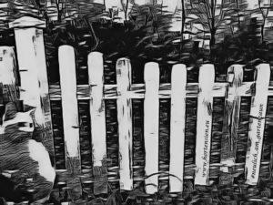 Neulich am Gartenzaun